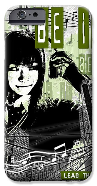 Buildings Mixed Media iPhone Cases - Be It - Green iPhone Case by Melissa Smith