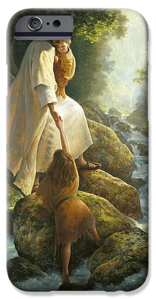 Girl iPhone Cases - Be Not Afraid iPhone Case by Greg Olsen