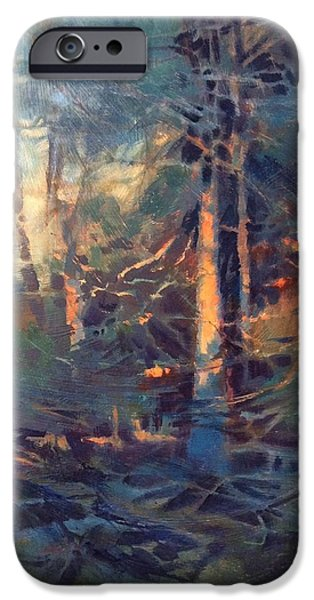 Donna Shortt iPhone Cases - Be Still In The Light Abstract iPhone Case by Donna Shortt