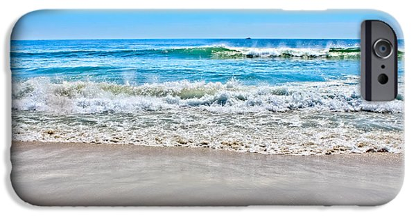 Beach Landscape iPhone Cases - Beach and Ocean Waves iPhone Case by Colleen Kammerer