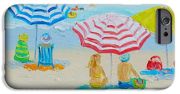 House Art iPhone Cases - Beach Art - Balmy summers day iPhone Case by Jan Matson