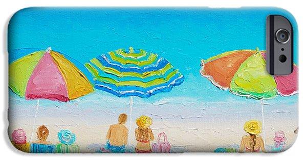 House iPhone Cases - Beach Art - Summer Paradise iPhone Case by Jan Matson