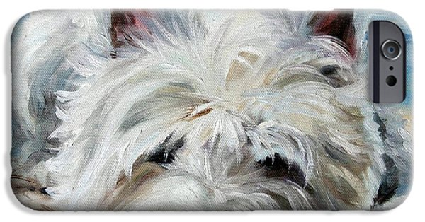 Recently Sold -  - Puppies iPhone Cases - Beach Bum iPhone Case by Mary Sparrow