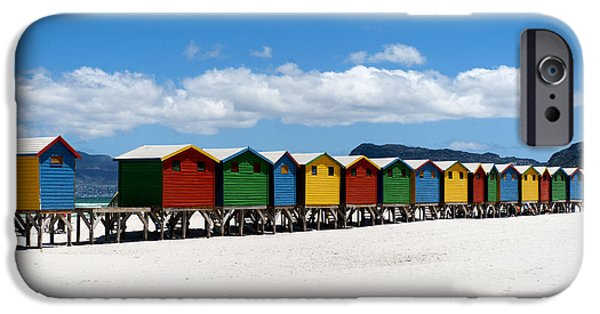 Cape Town iPhone Cases - Beach cabins  iPhone Case by Fabrizio Troiani