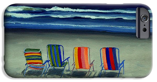 Beach Chair iPhone Cases - Beach Chairs iPhone Case by Paul Walsh