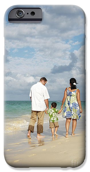 Beach Family iPhone Case by Brandon Tabiolo - Printscapes