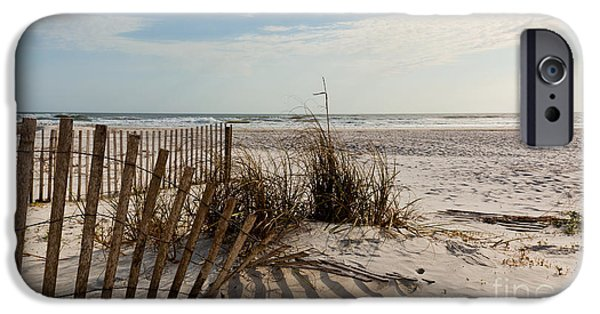 Michelle iPhone Cases - Beach Fence St Augustine Florida iPhone Case by Michelle Wiarda