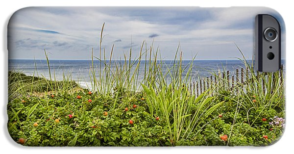 Storm Clouds Cape Cod iPhone Cases - Beach Garden iPhone Case by Shelley Vandegrift