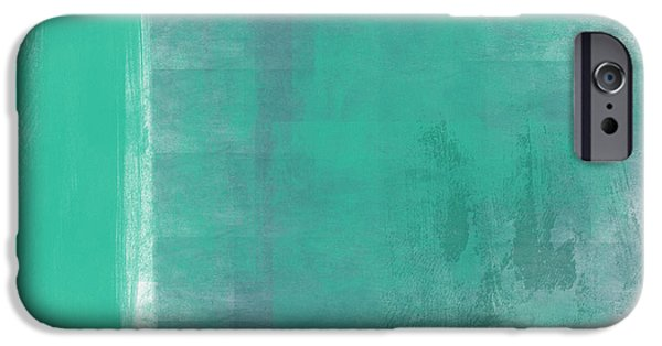 Corporate Art iPhone Cases - Beach Glass 2 iPhone Case by Linda Woods