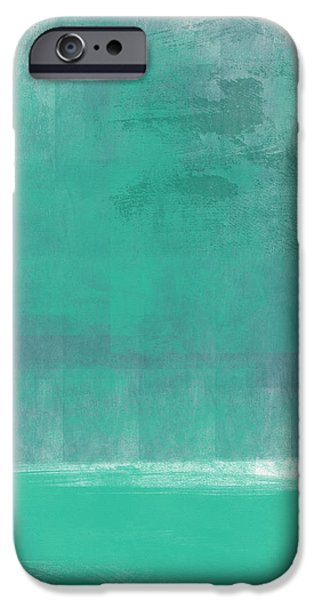 Corporate Art iPhone Cases - Beach Glass- Abstract Art iPhone Case by Linda Woods
