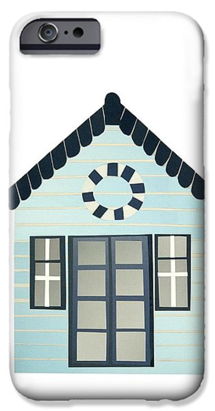 French Doors iPhone Cases - Beach Hut iPhone Case by Isobel Barber