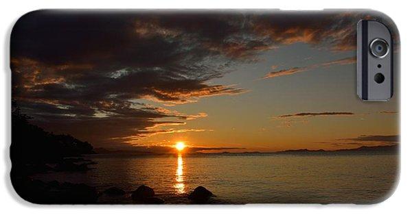 Ocean Sunset iPhone Cases - Beach Life iPhone Case by Elmar Langle