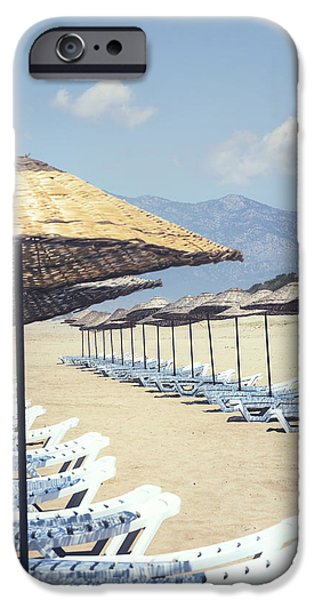 Beach Chair iPhone Cases - Beach Loungers iPhone Case by Joana Kruse