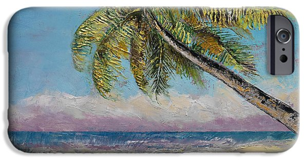 Michael Paintings iPhone Cases - Beach iPhone Case by Michael Creese