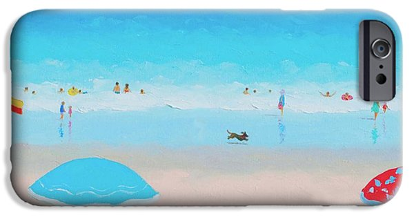 House Art iPhone Cases - Beach Painting - Ah Summer Days iPhone Case by Jan Matson