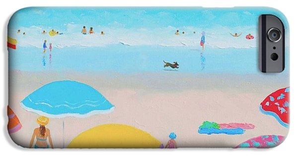 Ocean Art. Beach Decor iPhone Cases - Beach Painting - Ah Summer Days iPhone Case by Jan Matson