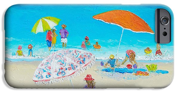 Recently Sold -  - House iPhone Cases - Beach Painting - Blazing Hot  iPhone Case by Jan Matson