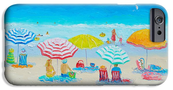 Recently Sold -  - House iPhone Cases - Beach Painting - Catching the breeze iPhone Case by Jan Matson