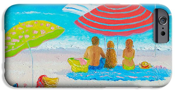 House Art iPhone Cases - Beach Painting - Endless Summer Days iPhone Case by Jan Matson