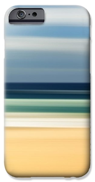 Flowing iPhone Cases - Beach Pastels iPhone Case by Az Jackson