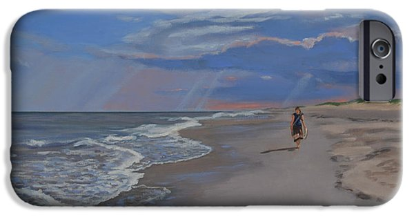 Recently Sold -  - Mist iPhone Cases - Beach Stroll iPhone Case by Eugenie B Fein