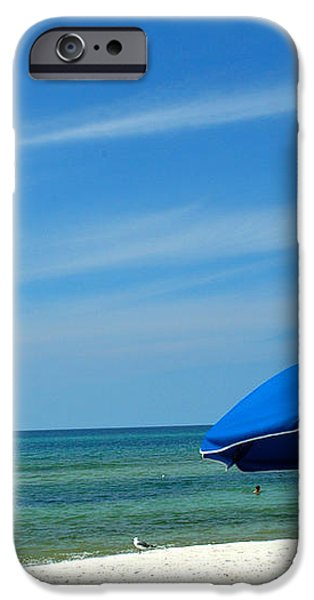 Beach Umbrella iPhone Case by Susanne Van Hulst