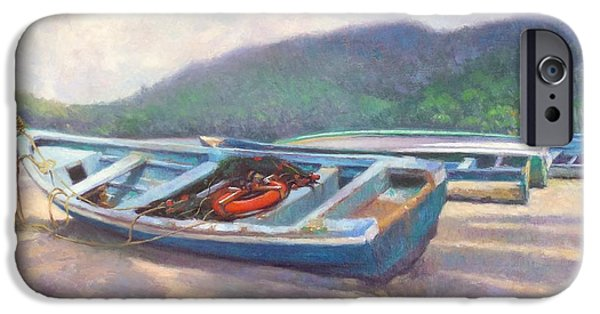Boat iPhone Cases - Beached iPhone Case by Colin Bootman