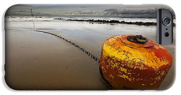 Atmospheric iPhone Cases - Beached Mooring Buoy iPhone Case by Meirion Matthias