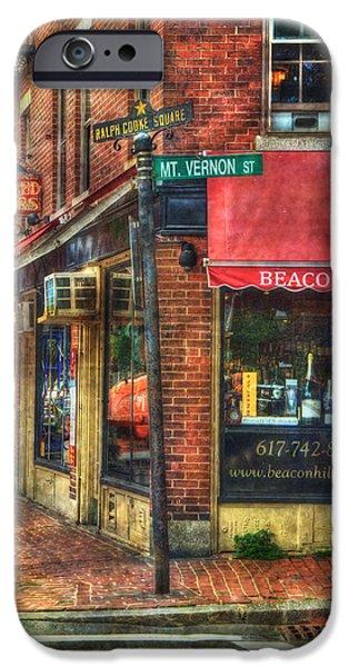 City. Boston iPhone Cases - Beacon Hill - Boston iPhone Case by Joann Vitali