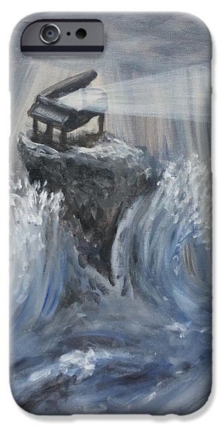 Piano iPhone Cases - Beacon in Troubled Waters iPhone Case by Izzy Anderson