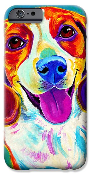 Beagles iPhone Cases - Beagle - Lucy iPhone Case by Alicia VanNoy Call