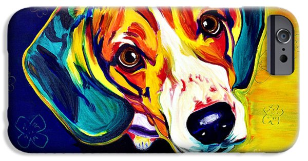 Hound iPhone Cases - Beagle - Bailey iPhone Case by Alicia VanNoy Call