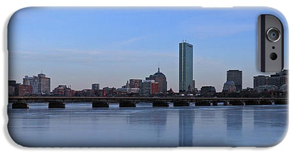 Winter Storm iPhone Cases - Beantown on Ice iPhone Case by Juergen Roth