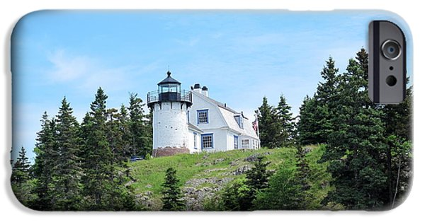 Historic Site iPhone Cases - Bear Island Lighthouse 1 iPhone Case by Cindy Kellogg
