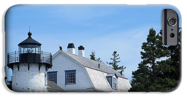 Historic Site iPhone Cases - Bear Island Lighthouse iPhone Case by Cindy Kellogg