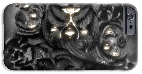 White Beard iPhone Cases - Bearded Screech Owl iPhone Case by Melissa Herrin