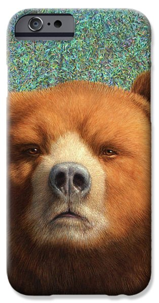 Bearish iPhone Case by James W Johnson