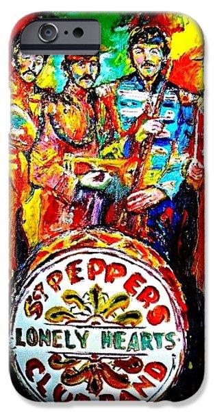 Beatles Sgt. Pepper iPhone Case by Leland Castro