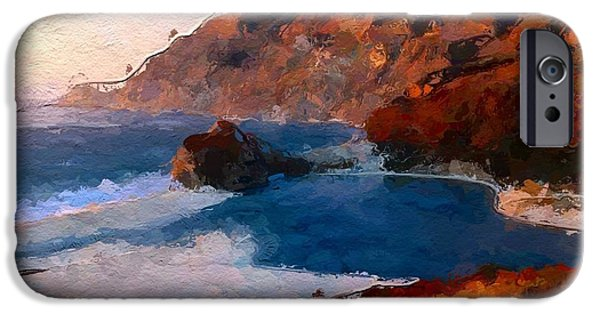 Seascape iPhone Cases - Beautiful Beach at Sunset iPhone Case by Anthony Fishburne