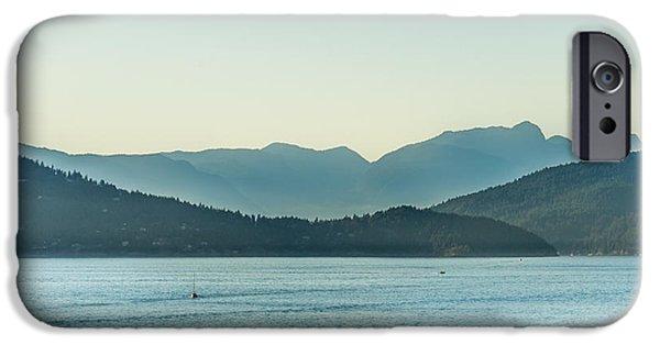 Sailboat Ocean iPhone Cases - Beautiful British Columbia iPhone Case by Lukasz Lawreszuk