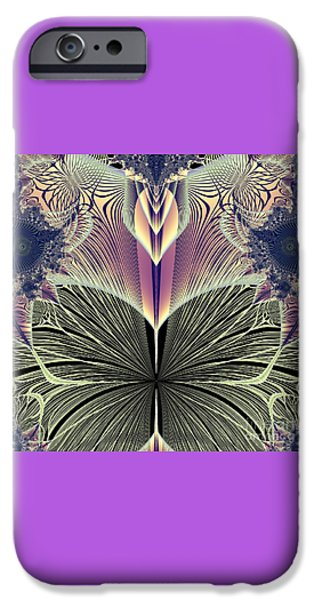 Abstract Digital Art iPhone Cases - Beautiful Butterfly Ballet Fractal iPhone Case by Rose Santuci-Sofranko