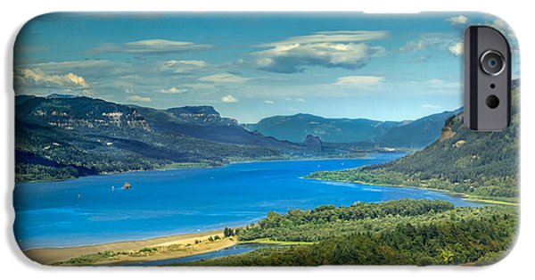 River View iPhone Cases - Beautiful Columbia River Gorge iPhone Case by Robert Bales