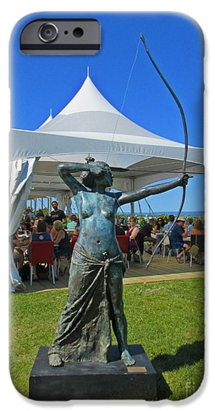 Food And Beverage Sculptures iPhone Cases - Beautiful Day at the Vineyard iPhone Case by John Malone
