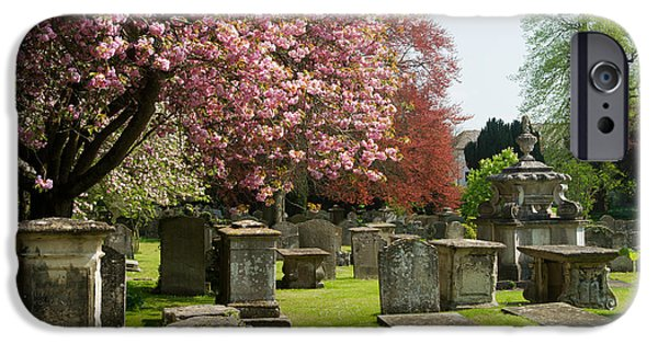 Cemetary iPhone Cases - Beautiful English Cemetary iPhone Case by Douglas Barnett
