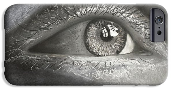 Pastel iPhone Cases - Beautiful Eye iPhone Case by Randall Messina