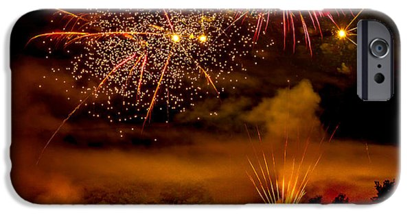 Haybale iPhone Cases - Beautiful Fireworks iPhone Case by Robert Bales