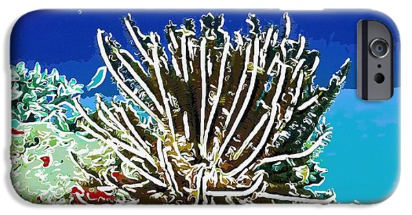 Granulatus iPhone Cases - Beautiful marine plants 11 iPhone Case by Lanjee Chee
