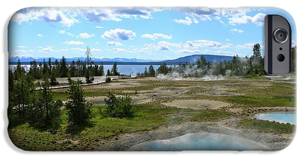 Epic iPhone Cases - Beautiful Morning At West Thumb Geyser Basin And Yellowstone Lake iPhone Case by Christiane Schulze Art And Photography