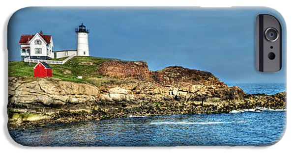 New England Lighthouse iPhone Cases - Beautiful Nubble Lighthouse iPhone Case by Michael Ciskowski