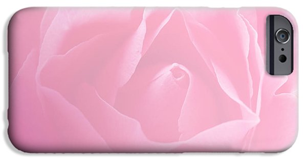 Concept Digital Art iPhone Cases - Beautiful Pink Color Arts Rose iPhone Case by Jumnian Barisee